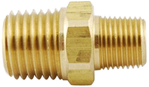 Mettleair 122 Ba 1pk 14 Npt Male To 18 Npt Male Brass Pipe Hex