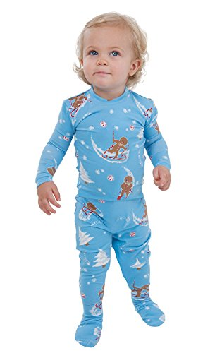 PajamaGram Flannel Gingerbread Fun Matching Family Pajama Set, 18 Months, Multicoloured (Sexy Ginger)