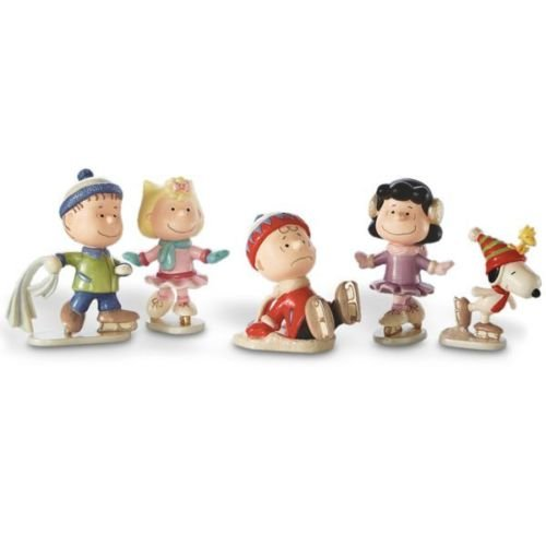 Lenox Peanuts 5-piece Ice Skating Figurine Set - Skating Lenox