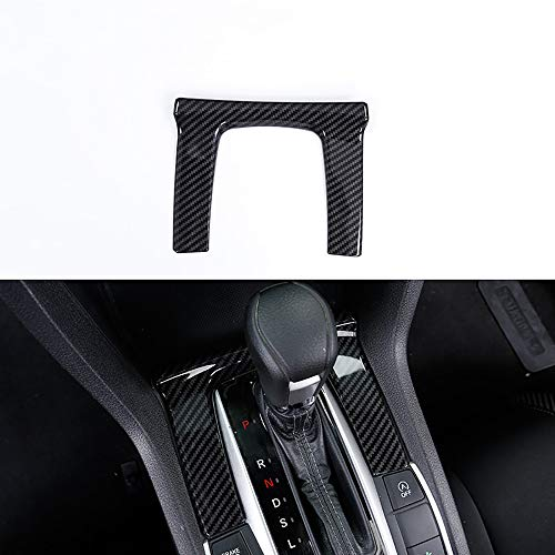 Kadore ABS Carbon Fiber Center Console Shift Gear Panel Frame Cover Trim for 2016-2019 Honda Civic 10th gen Automatic Transmission