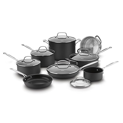 Cuisinart 66-14N 14 Piece Chef's Classic Non-Stick Hard Anodized Cookware Set, ()