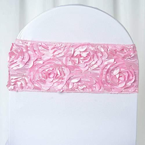 Mikash Satin Rosettes Stretchable Spandex Banquet Chair Sashes Wedding Decorations Sale | Model WDDNGDCRTN - 4248 | 50 pcs