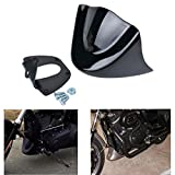 NATGIC Motorcycle Glossy Black ABS + Metal Bracket Front Spoiler Air Dam for Harley Davidson Sportster 883 XL1200 2004-2014