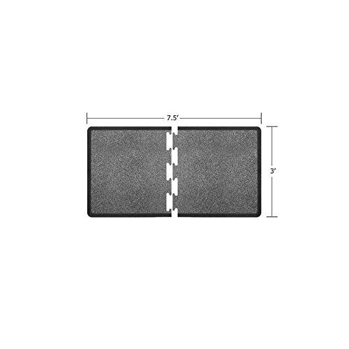 WellnessMats Puzzle Piece Collection R Series Granite Steel Anti-Fatigue Mat, 7.5 x 3 Foot