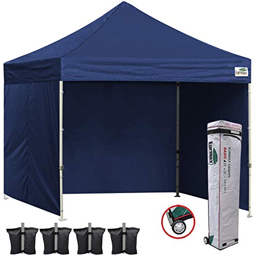 Eurmax 10x10 Ez Pop Up Canopy Outdoor Canopy Instant Tent wi