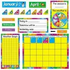 - Year Around Calendar Bulletin Board Set, 22 x 17, Sold as 1 Set by Trend Enterprises