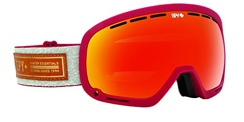 Spy Optic Marshall 313013146850 Snow Goggles  One Size  Heritage Red Frame Bronze Red Persimmon Lens