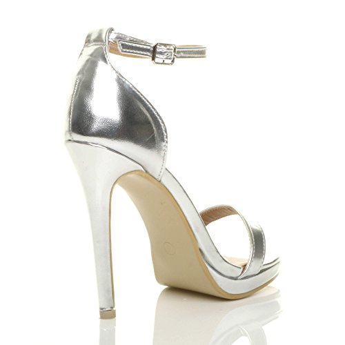 High Ajvani There Size Barely Heel Women Silver Sandals xxI5wvFrq