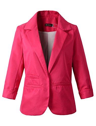 hot pink blazer for women - 4