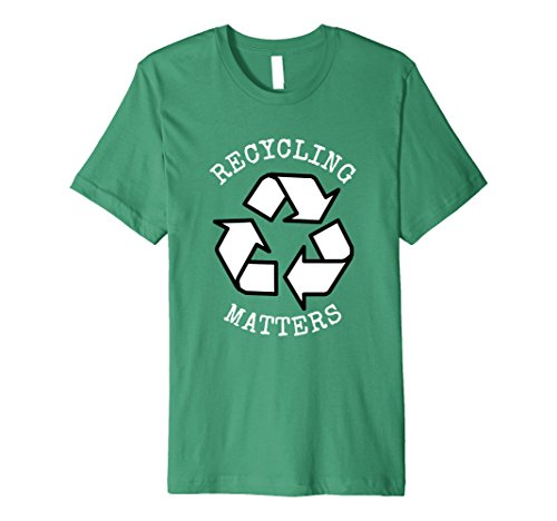 Mens RECYCLING MATTERS AMERICA RECYCLES DAY SHIRT Small Kelly Green