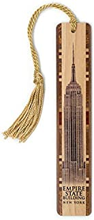 product image for Personalized Empire State Building Wooden Bookmark with Tassel - Search B07JJC5CRB for Non-Personalized Version