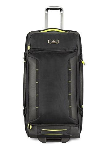 High Sierra AT8 Wheeled Upright Duffel Bag, Black/Zest, 32