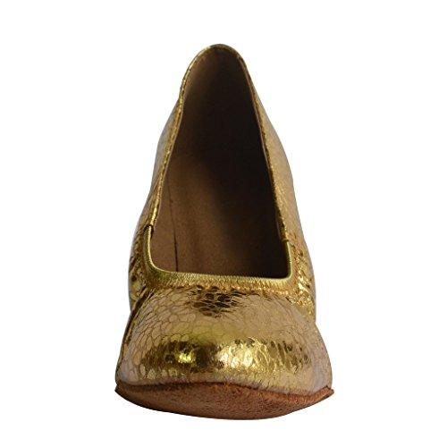 Jig Foo Femmes Pompes Chaussures De Danse Or