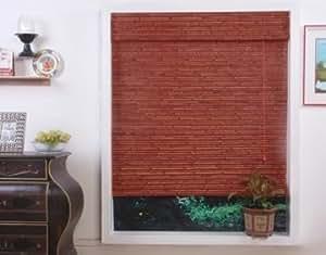 Randa Auburn Bamboo Roman Shade, 26x74