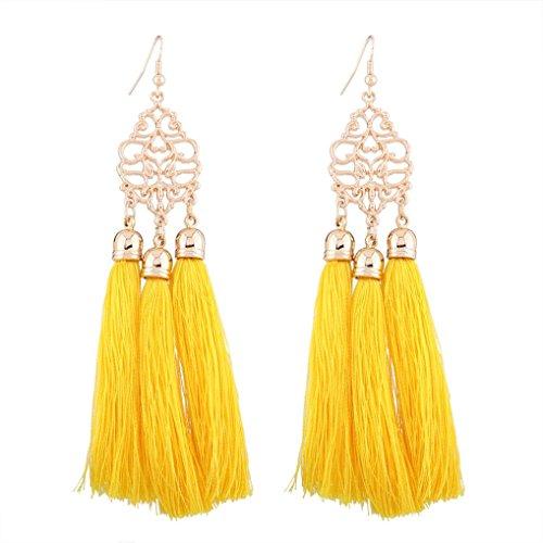 Botrong Fashion Bohemian Earrings Women Long Tassel Fringe Dangle Earrings Jewelry - Earrings Turquoise Fox