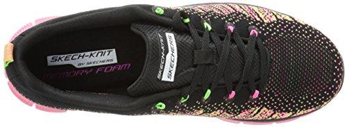 Skechers Flex Appeal Talent Flair, Zapatillas para Mujer Black/Multi Textile/Trim
