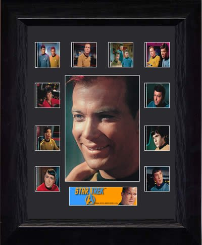 Framed and Matted Genuine Film Cells Star Trek The Original Series (S2) Captain Kirk Mini Montage USFC2529 -