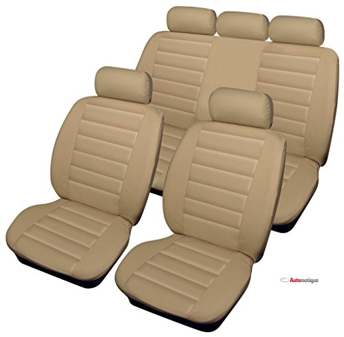 VECTRA EXPRESSION (95-02) PREMIUM BEIGE LEATHER LOOK SEAT COVERS