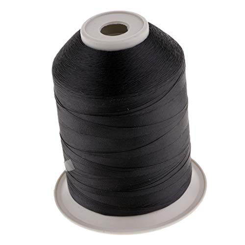 Baosity Strong Nylon Rod Guide Wrapping Fishing Line Thread for Rod Building or Guide Ring Fix 2187Yds -Black ()
