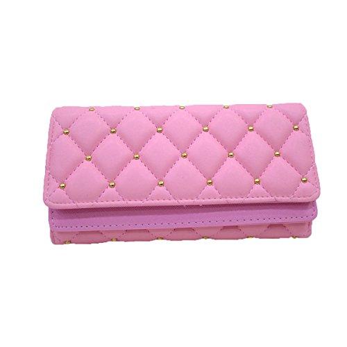 Porte Mode Dames Porte monnaie Femmes Porte En En Carte Pink Pour Les Espèces à monnaie Main Multicolore Cuir Diamant Sac monnaie 4w5Srxwqg