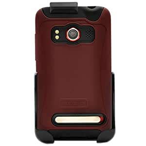 Seidio Innocase Active Combo Hybrid Case and Holster for HTC EVO - Red
