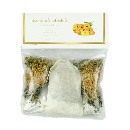 Chamomile Buttermilk Bath Tea by MoonDance Soaps - Three Relaxing Tub Teas with Chamomile and Calendula Herbs