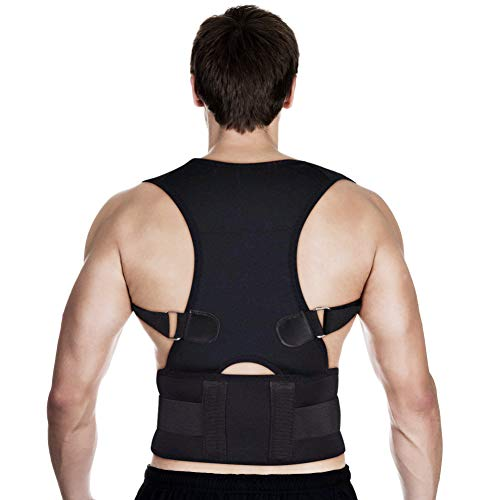 Corrector de Postura Soporte de Espalda Lumbar Cintura Hombro Recta Plana Transpirable Corrección de Posture Prevenir...