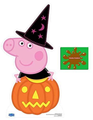 Peppa Pig Halloween Theme Pumpkin Cardboard Cutout Fan Pack, 94cm x 51cm Includes 8x10 Star Photo ()