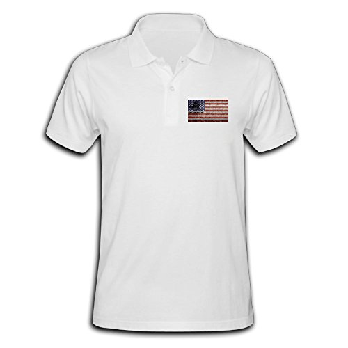 Men's Dont Tread On Me Come Take Them Short-sleeve Polo Shirts White