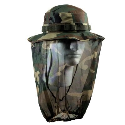 nie Hat with Mosquito Net - Size 7.50 (Boonie Hat All Weather Hat)
