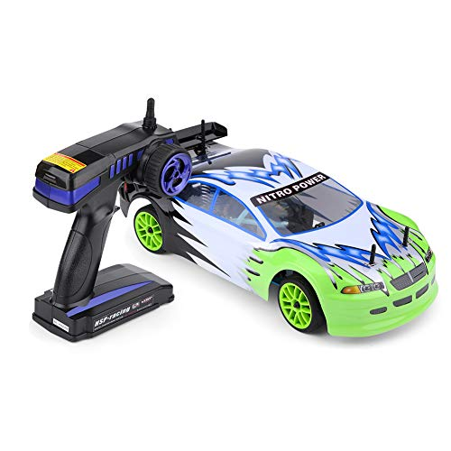 Wandisy Remote Control Car, Remote Control Model Vehicle 1:10 Scale Four-Wheel Drive Gas Powered RC Cross Country Car