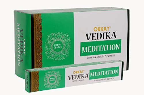 Vedika Meditation Premium Masala Incense Sticks 15g. x 12 Packets = 180g. by Vedika