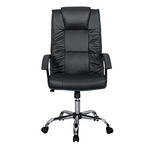 Best Price Black Office Chair PU Leather Ergonomic High Back Executive Comp