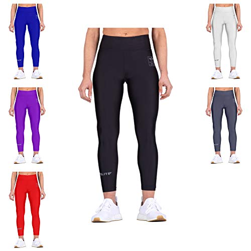 Elite Sports Women Workout Leggings Yoga Pants (Black, Medium) ()