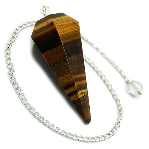 Golden Tiger Eye 6-Facet Pendulums (1