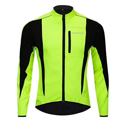 d94113fff85 Cycearth Winter Warm UP Thermal Softshell Cycling Jacket Windproof  Waterproof