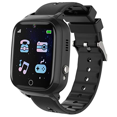Kids Smart Watch,Touch Screen Kids Games Watchs with Call SOS Camera Music Player Alarm Clock Calculator 7 Games Watchs for Girls Boys Birthday Gifts 4-12 Year Old (Black)