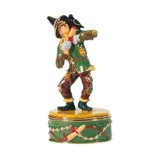 Wizard Of Oz Jeweled Boxes - Wizard of Oz Collectible Jeweled Trinket Box: Scarecrow