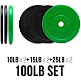 Color Bumper Plate Sets / Virgin Rubber w/ Steel Insert / Low Odor + Dead Bounce / Crossfit, Olympic Weightlifting, & Strength Training Equipment