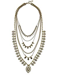 """Lucky Brand Gold Major Layer Necklace, 19.5"""" + 1"""" Extender"""