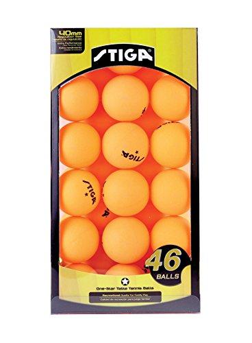 STIGA Table Tennis Balls (46-Pack), Orange, 46-Pack by STIGA