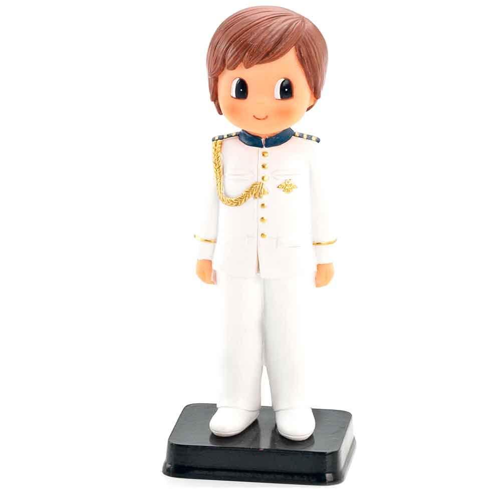 Muñeco para la tarta niño Comunión con traje blanco con adornos ...