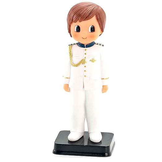 Muñeco para la tarta niño Comunión con traje blanco con ...