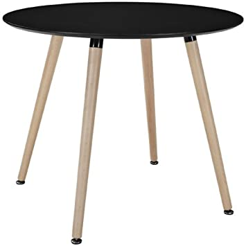 Modway Track Circular Dining Table in Black
