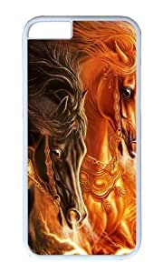 MOKSHOP Adorable 3D horse 2 Hard Case Protective Shell Cell Phone Cover For Apple Iphone 6 Plus (5.5 Inch) - PC White