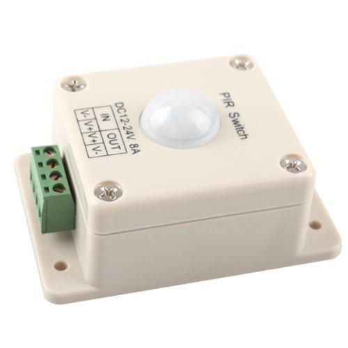 Interruptor LED PIR sensor de movimiento automático de luz LED de iluminación DC 12V-24V 8A: Amazon.es: Bricolaje y herramientas
