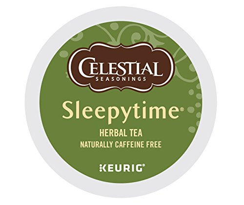 Celestial Seasonings Black Caffeine Free Tea (Celestial Seasonings Sleepytime Herbal Tea, Keurig K-Cups, 12 Count (Pack of 6))