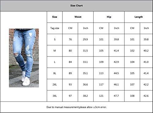 lannister Stretch Uomo Moda Qk Metà Denim Casual Skinny Pantaloni Slim Black1 Ragazzo Fit Strappata Jeans A wIapqpdER