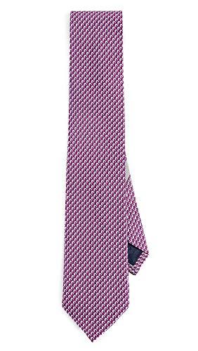 (Salvatore Ferragamo Men's Dolphin Print Classic Tie, Magenta, One Size )