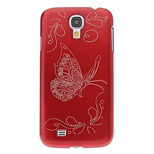 Butterfly Sketch Pattern Hard Back Cover Case for Samsung Galaxy S4 I9500 --- COLOR:Blue